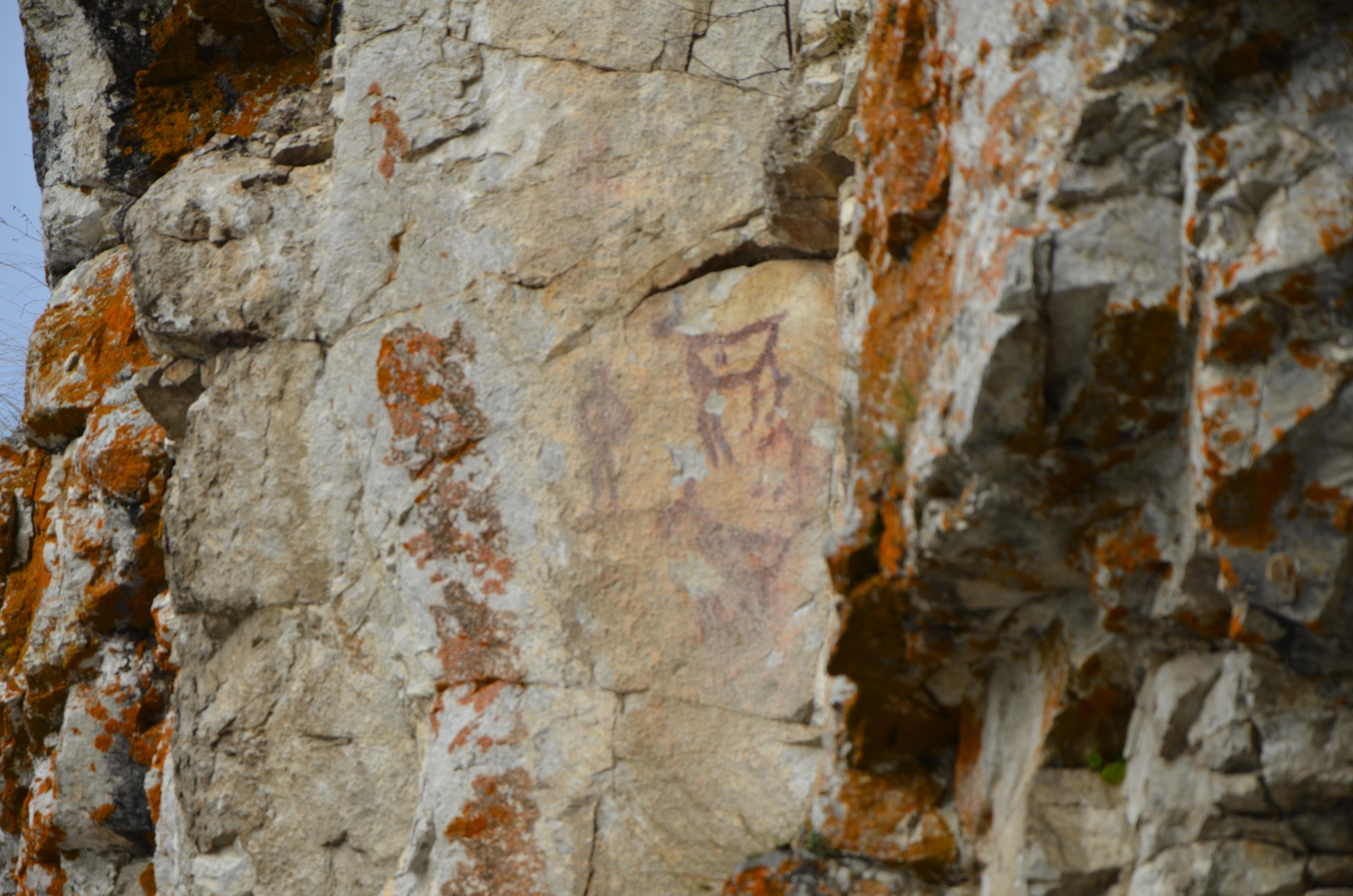 Наскальные рисунки древнего человека