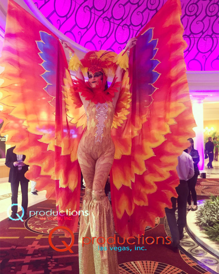 Firebird Stilt Walker Phoenix