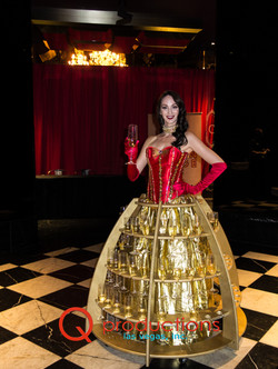 Gold Champagne Skirt Dress