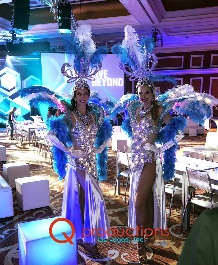LED Blue Ice Showgirls