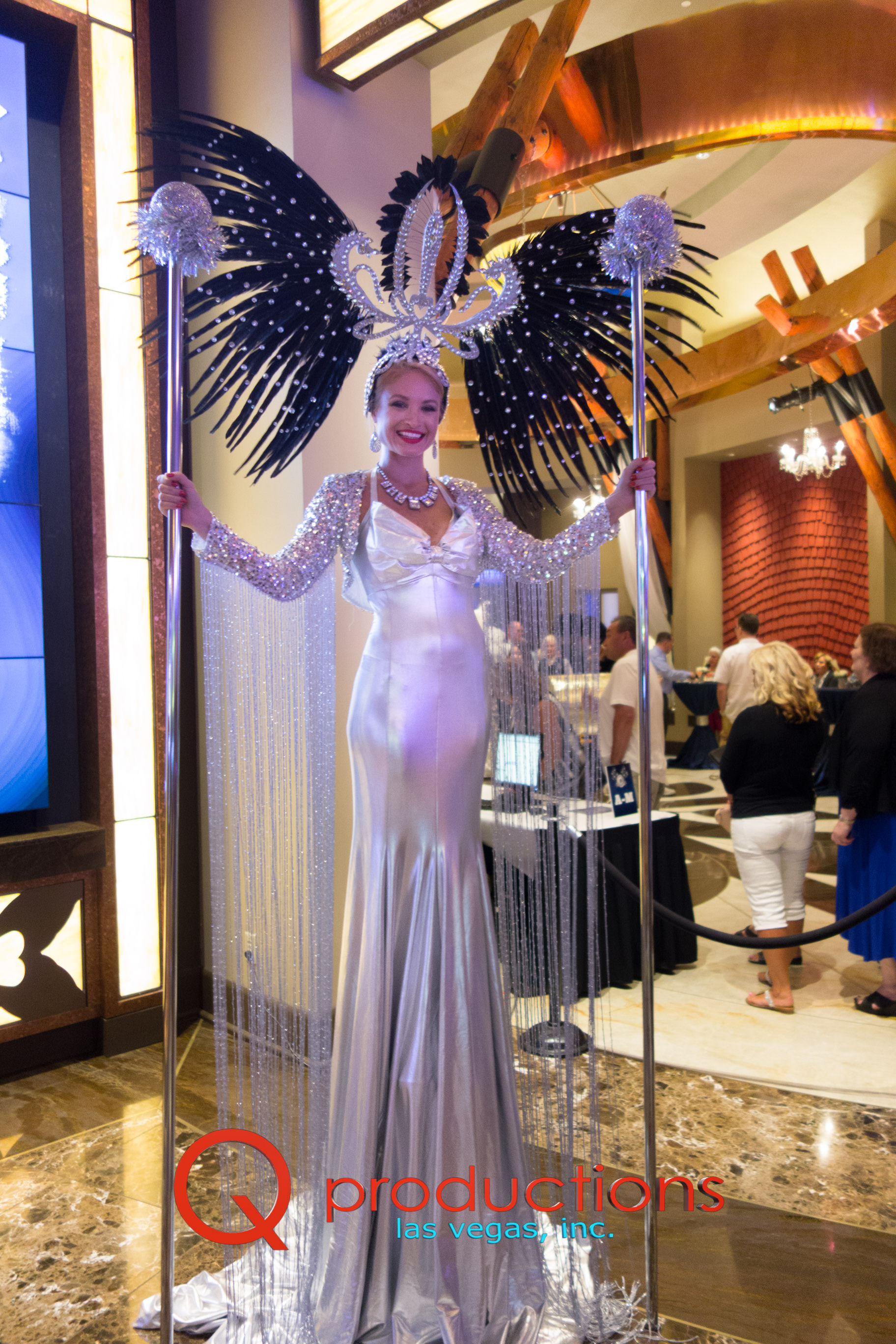 Silver Towering Showgirl Glamazon