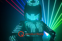 Female LED Robot