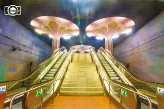 Westend U Bahnhof Frankfurt fotografiert von Sven Satter
