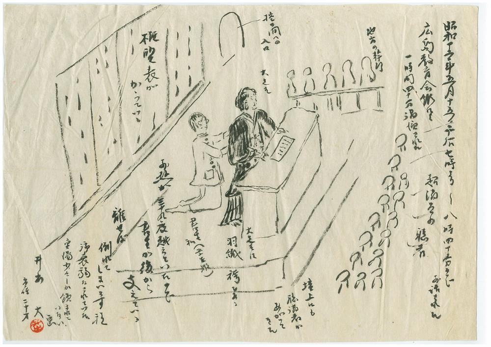 展示資料 「広島教育会館における講演会」