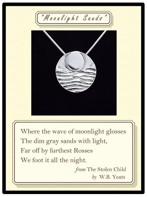 """Moonlight Sands"" Silver Pendant"