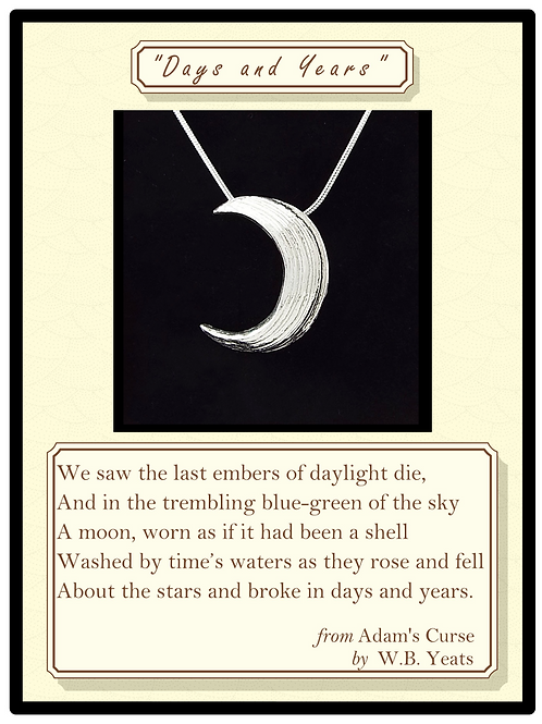 """""""Days and Years"""" Silver Pendant"""