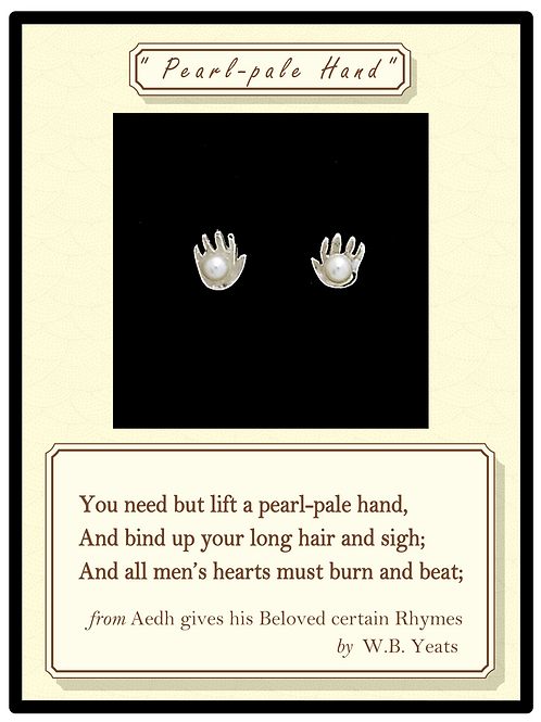 """""""Pearl-pale Hand"""" Silver Earrings"""