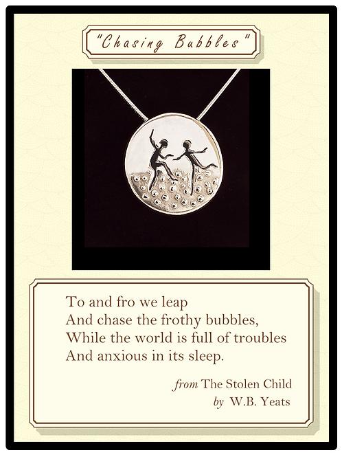 """Chasing Bubbles"" Silver Pendant"