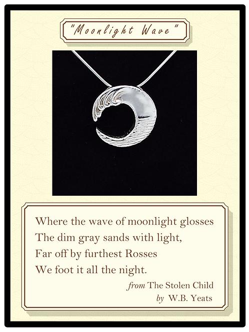 """Moonlight Wave"" Silver Pendant"