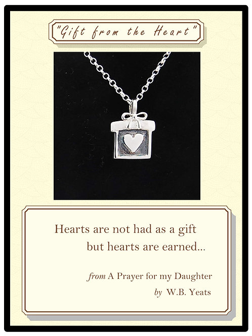 """""""Gift from the Heart"""" Silver Pendant"""
