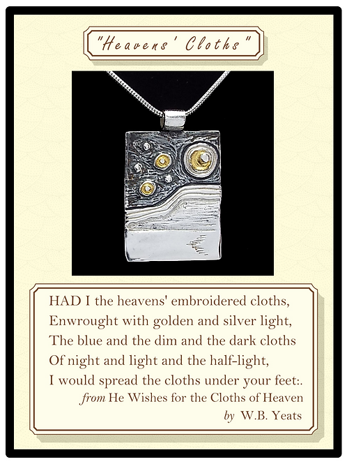 'Heavens' Cloths' Silver Pendant with gold plated highlights