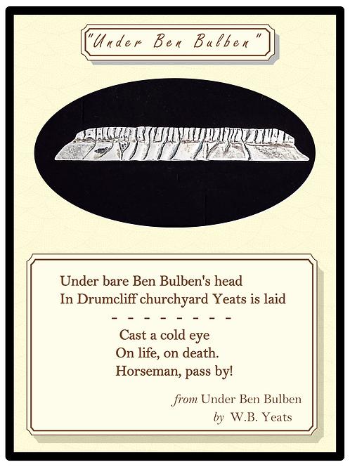 """""""Under Ben Bulben"""" Silver Tie Clip or Brooch"""