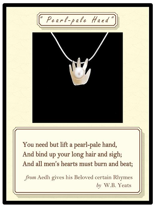 """Pearl-pale Hand"" Silver Pendant"