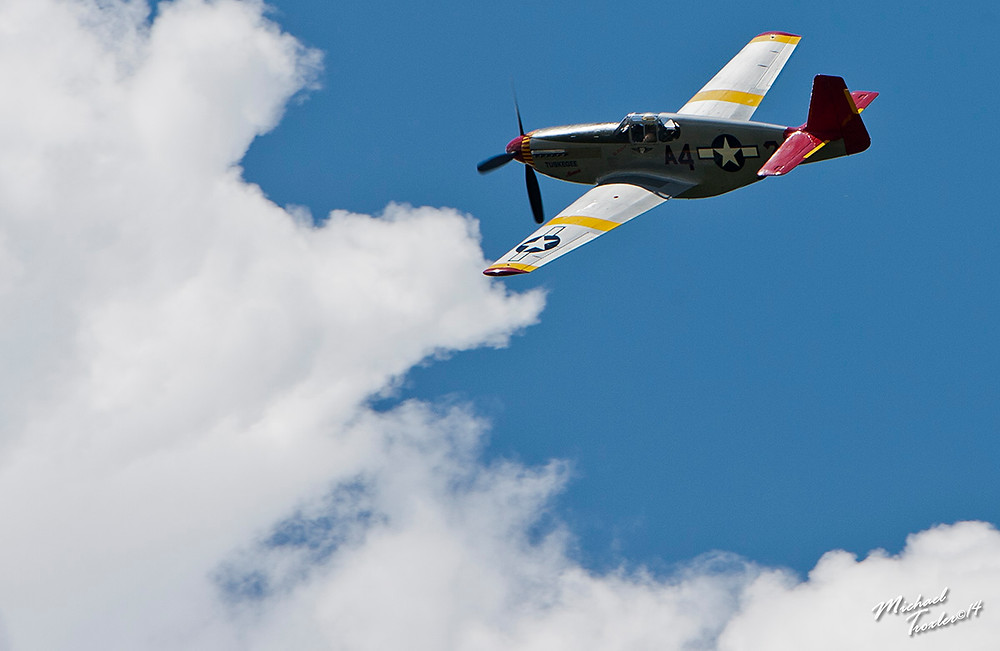 P51 Mustang Redtail at the Return of the Redtails 2014 New York Mike Troxler
