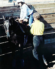 Morgan and Kathy and Song. One of her first lessons.