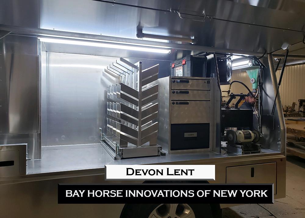 Custom Farrier Rig for farrier David Lent by Bay Horse Innovations of New York