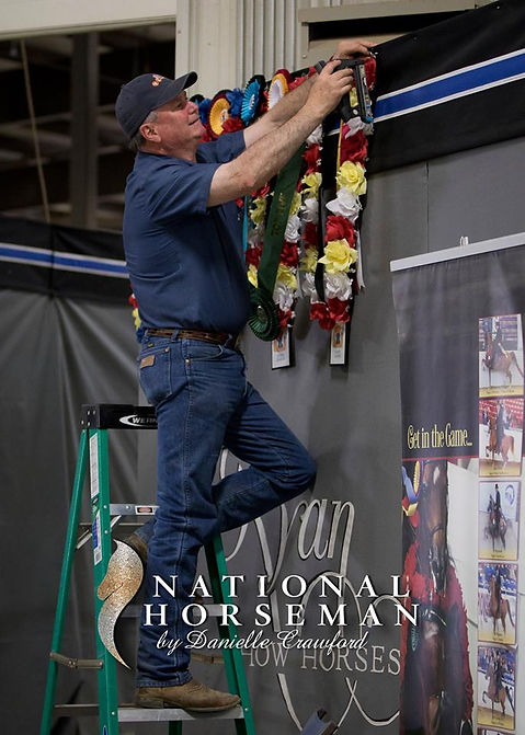 Johnny Ryan with a few of Ryan Show Horses wins from the Region 15 Arabian Championships