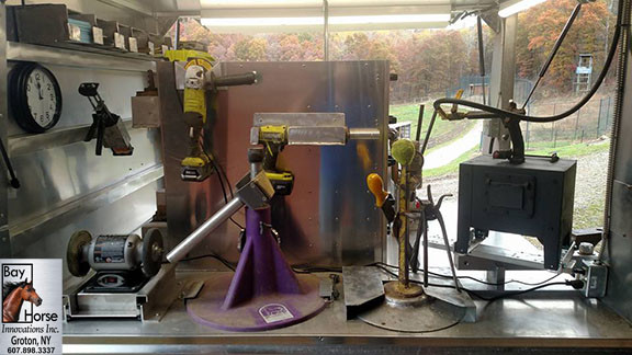 Custom Farrier Rig by Bay Horse Innovations of New York for Smiley Horse Shoeing