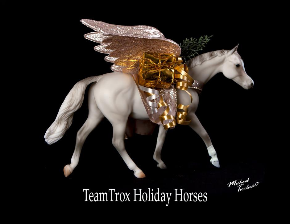 TeamTrox customized Breyer Holiday Horse