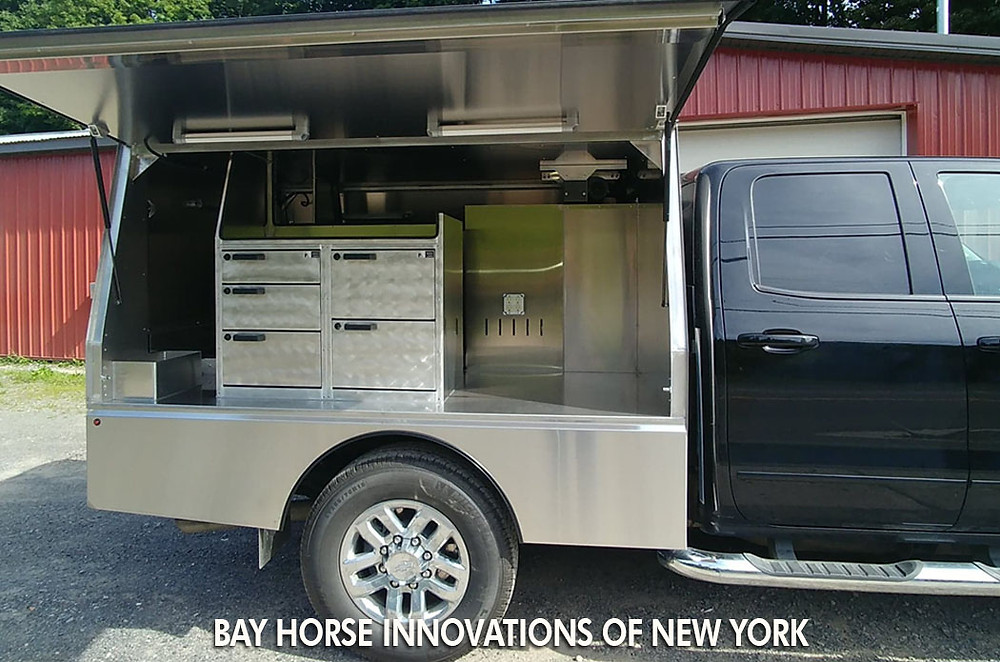Custom Veterinary rig by Bay Horse Innovations of New York for Dr. Charmaine Brown DVM