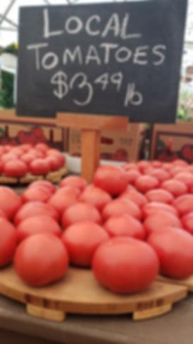 Locally grown tomatos at Dedricks Farm Market New York