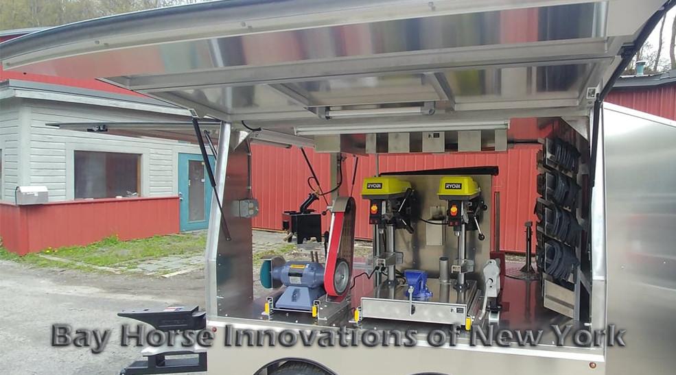 Custom Farrier Rig-Mid sized farrier trailer by Bay Horse Innovations of New York