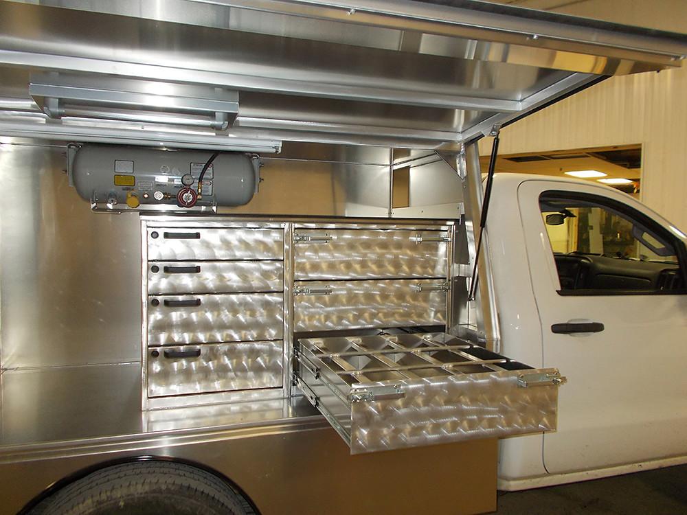 Custom farrier truck body by Bay Horse Innovations of New York