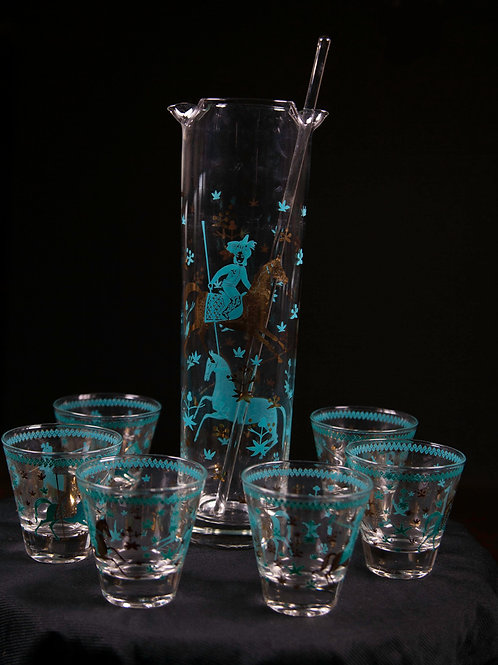 Retro Polo Themed Cocktail Set