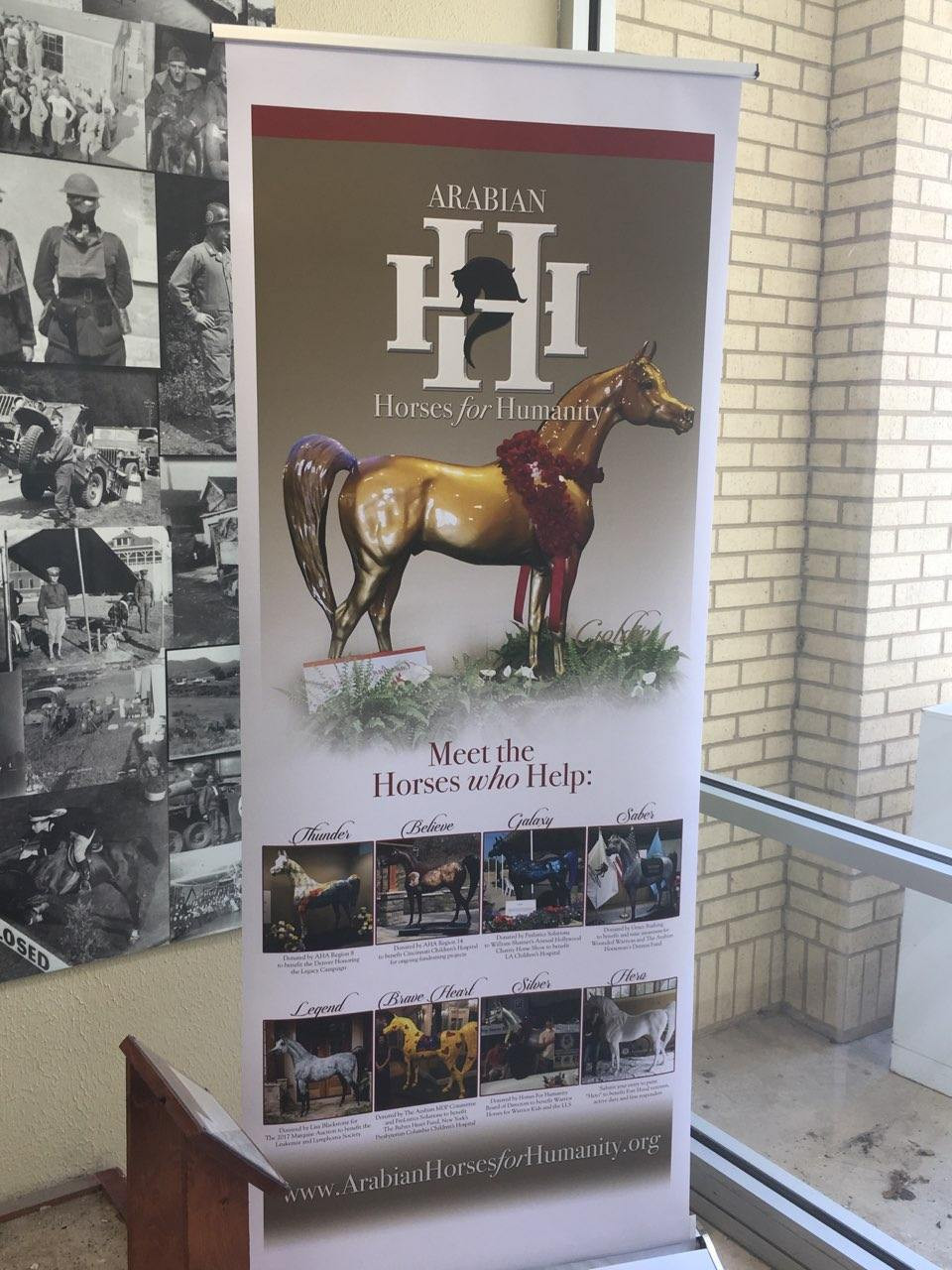Arabian Horses For Humanity display Fort Hood-Hero