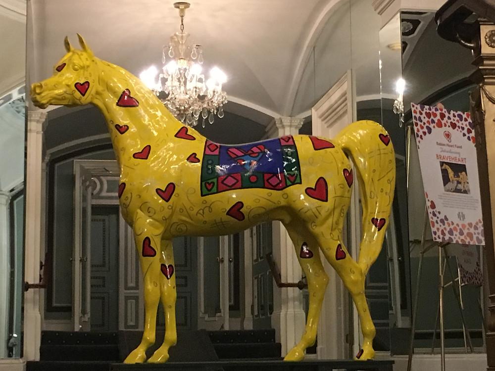 Arabian Horse for Humanity Braveheart artist Romero Britto