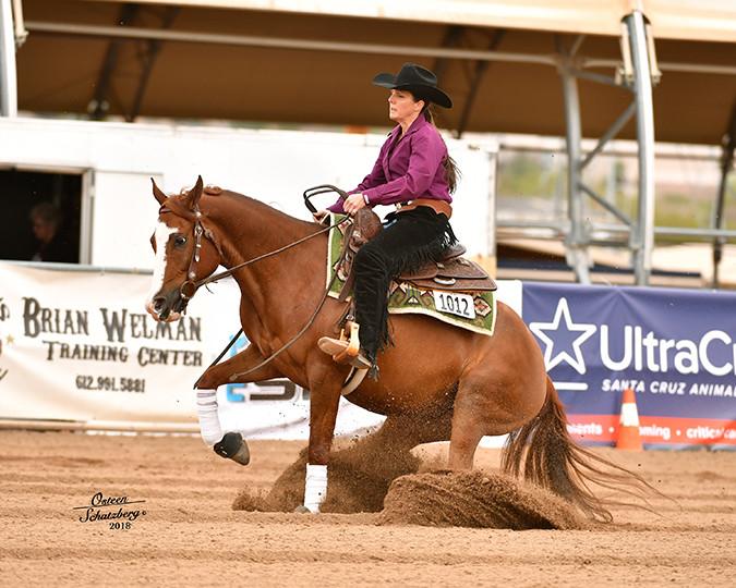 Moonrise Ridge Half Arabian-My Expense Account and trainer Jessica Dooley