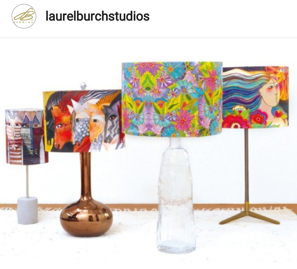 Laurel Burch Studio lamps