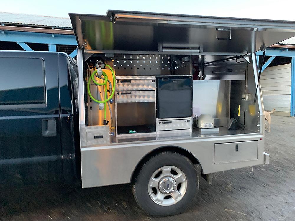 Bay Horse Innovations of New York custom vet truck body for Firestar Equine Services LLC