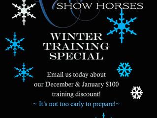 Ryan Show Horses-Winter Training Special!