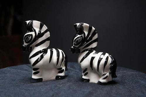 Zebra Salt and Pepper Shakers