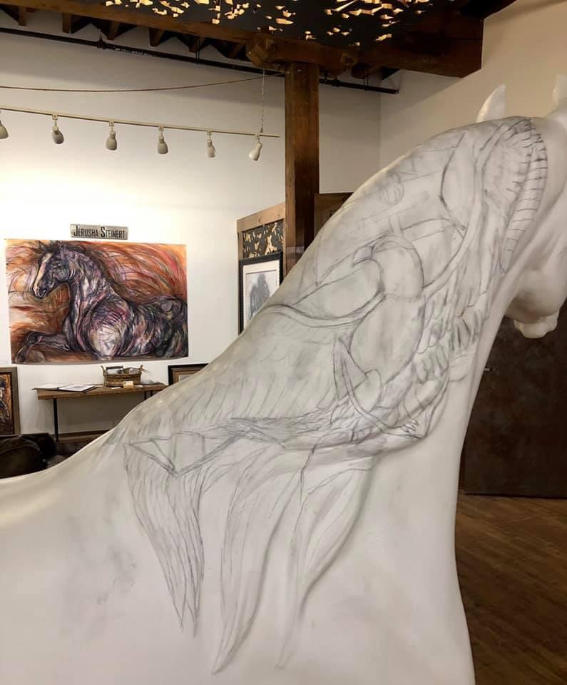 Arabian Horse for Humanity Salute in progress