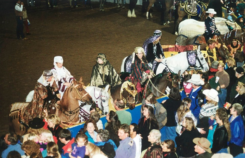 Arabian Qaudrille riders and horses doing the meet and greet