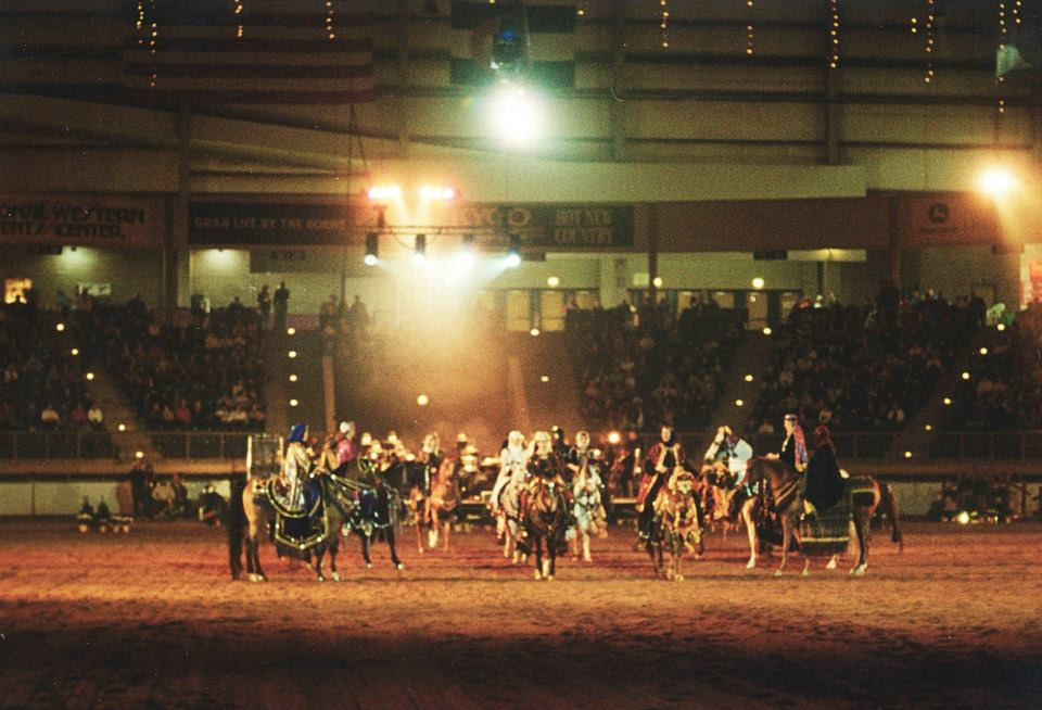 2002 Arabian Horse Quadrille at the National Western Stock Show Dancing Horses performance