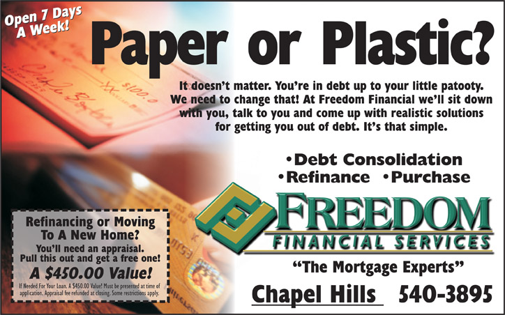 Freedom Financial Half Page Indy Ad #2