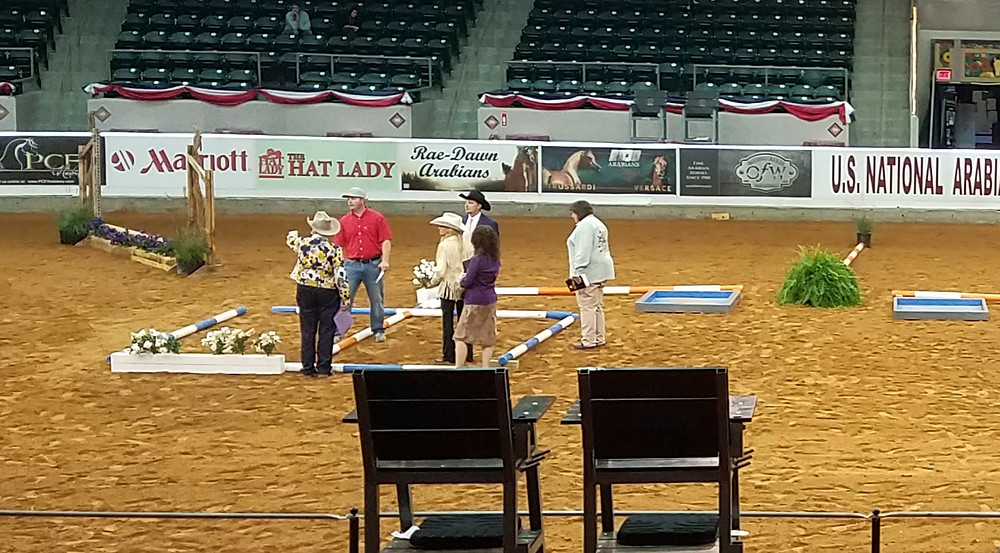 2017 Arabian Nationals Trail judges with course designer
