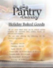 Dedricks Holiday baked goods bakery Than