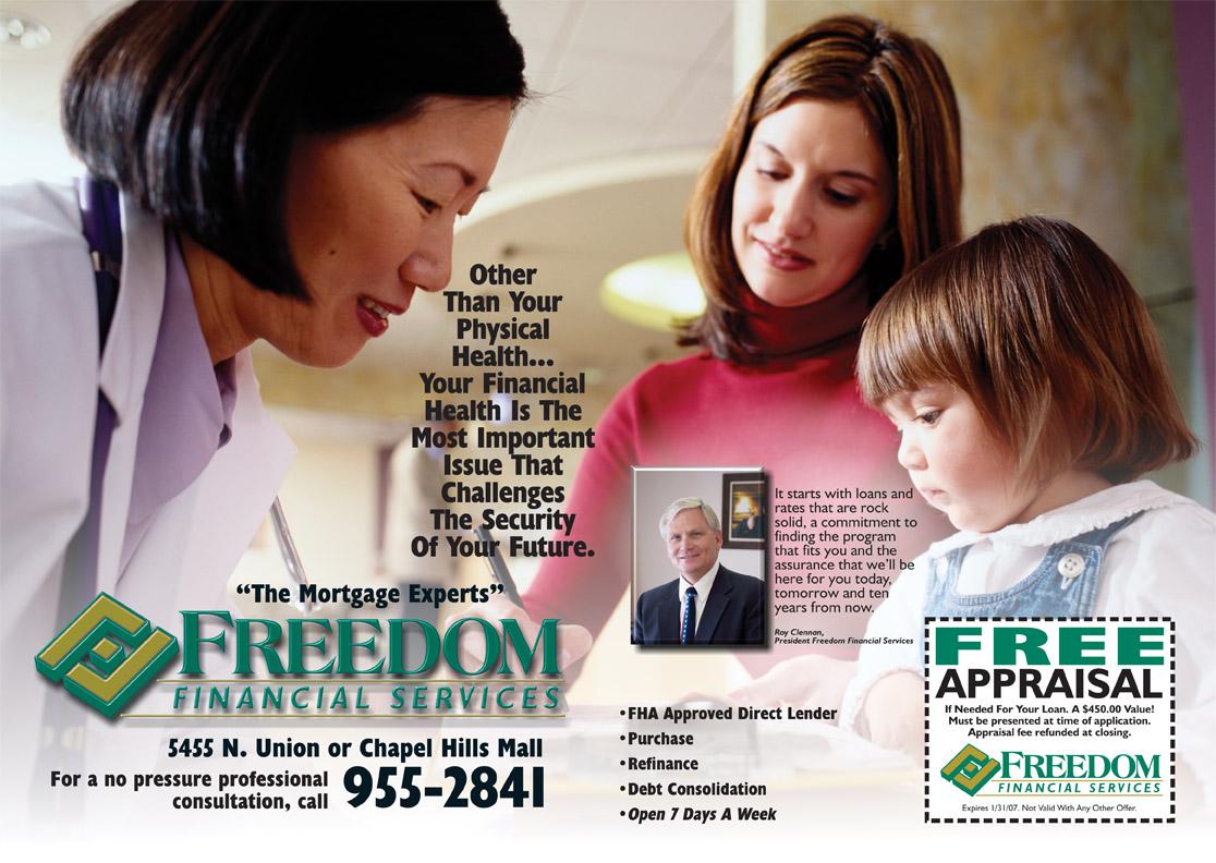 Freedom Financial Reach Ad 2007#1