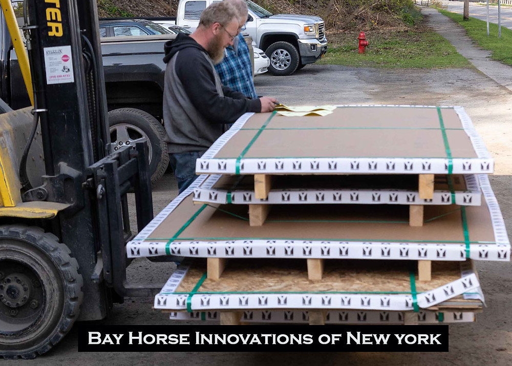 A delivery of material from Yarde Metals for future custom vet and farrier rigs at Bay Horse Innovations New York
