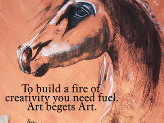 To build a fire of creativity, you need fuel. Art begets art.