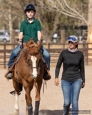 Albuquerque NM riding lesson at Platinum Performance Horses
