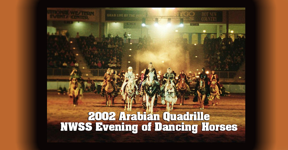 Arabian Horse Quadrille 2002 National Western Stock Stock Dancing Horses