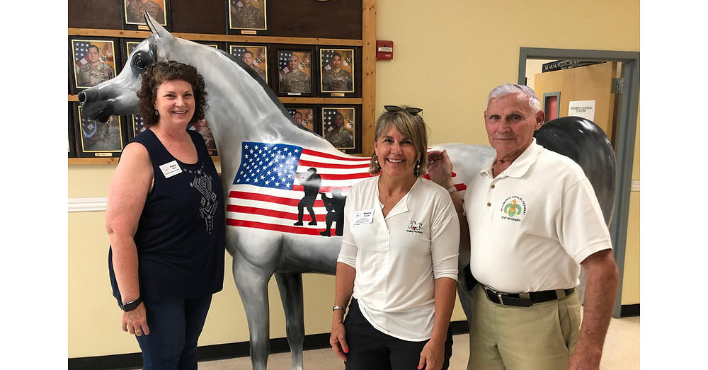 Arabian Horse For Humanity Hero and ROCK CEO Nancy Krenek and Kathy White and SGM Reed