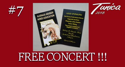 Arabian Horse show in Tunica MS-Alabama Arabian Horse Association-concert tickets