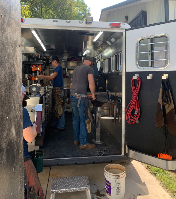Bay Horse Innovations of New York custom farrier rig for Ian Curry