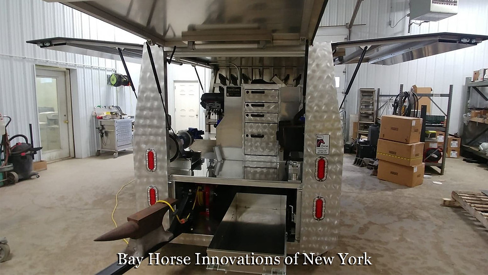 Custom Farrier Trailer by Bay Horse Innovations of NY for Claude Lortie